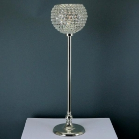Silver Globe Candle Holder
